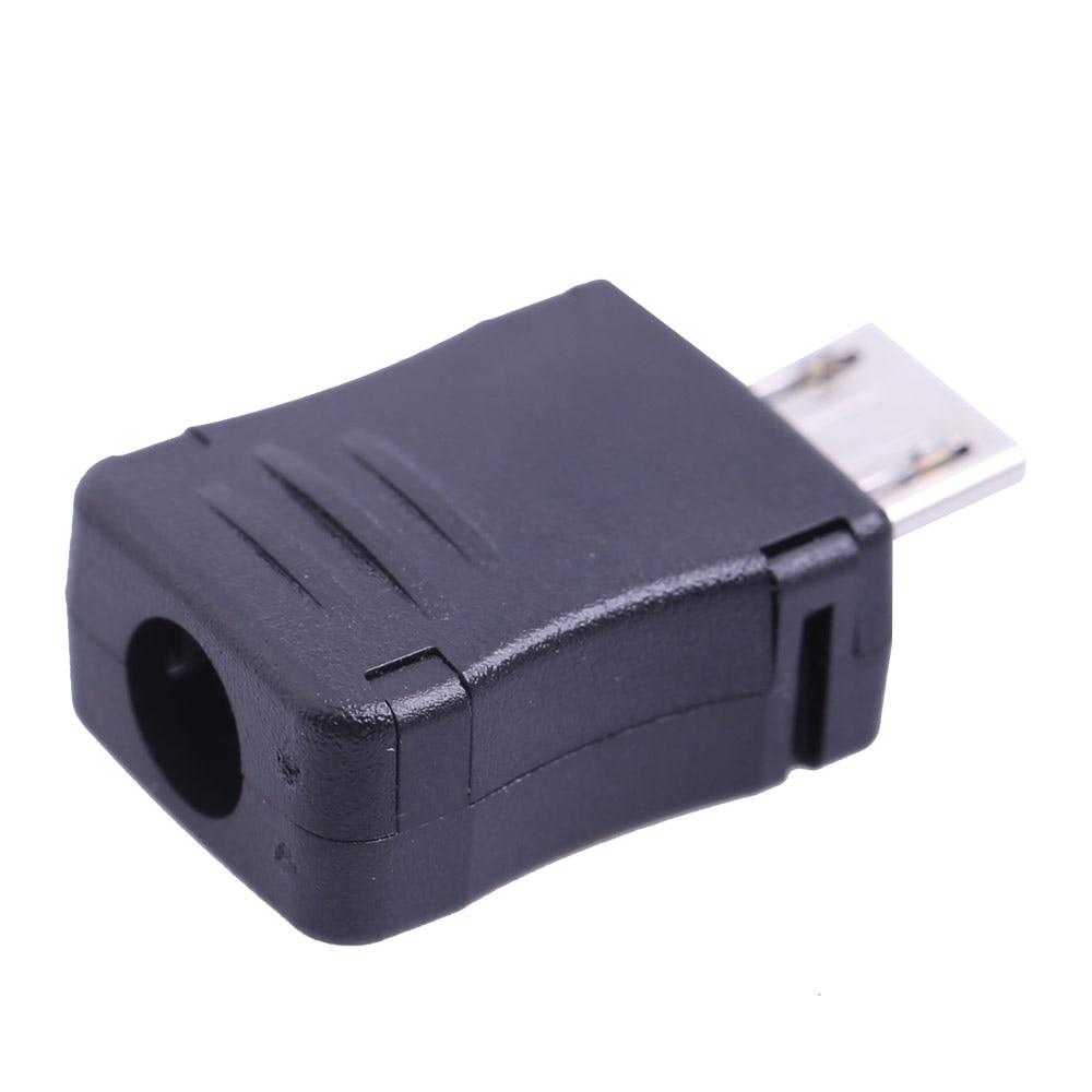 50PCS Micro USB 5 Pin T Port Male Plug Socket Connector Plastic Cover DIY