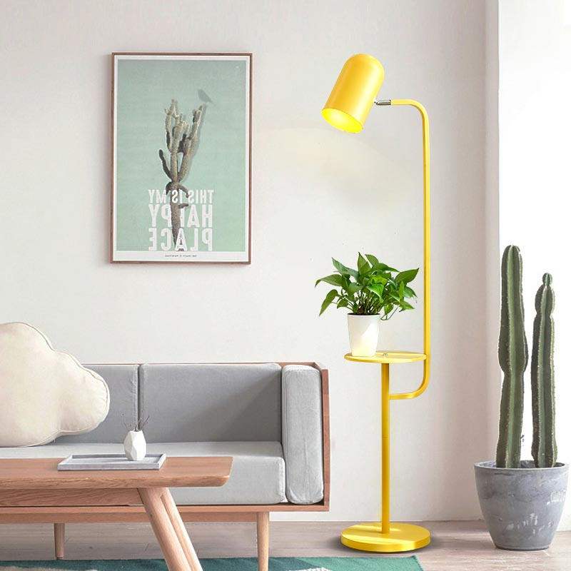 Modern Macaron Floor Lights For Living Room Bedroom Loft Standing Lamps Green Yellow Pink Iron Lampshade Decor Home Lighting E27 modern wood table floor lamp living room bedroom study standing lamps fabric decor home lights wooden floor standing lights