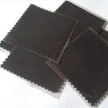 200 ชิ้น/ล็อต Micro Suede OPP สีขาวสีเทาสีดำเงินเครื่องประดับขัดผ้าทำความสะอาดเสื้อผ้าที่กำหนดเองพิมพ์โลโก้