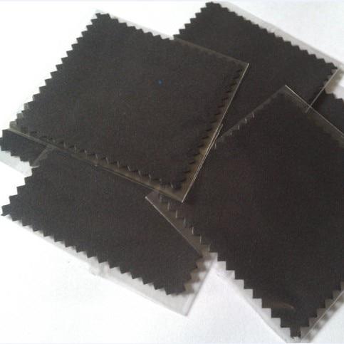 200 adet/grup mikro süet OPP ambalaj beyaz gri siyah gümüş takı parlatma bezi ve temizlik giysileri özel baskılı Logo