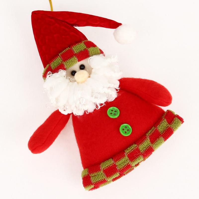 navidad para rboles adornos de tela colgando piezas de navidad estatuilla de la navidad mueco de pap noel y elk patrn en de en