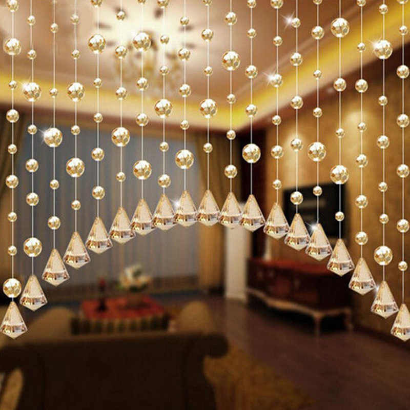 6 X Glass Crystal Clear Beads Hanging Vertical Curtain For Living Room Window  Drapes Party Cafe Home Wedding Curtains Decoration In Curtains From Home ...