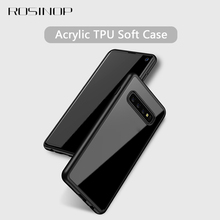 ROSINOP Invisible Airbag TPU Soft Case For samsung S10 lite Camera Protection Silicone Transparent Cover plus