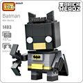 Ideas LOZ Mini Bloques Batman Justice League Superhero Mecha Bircks Acción Figura Muñecas Modelo Juguetes DIY Bloques de Construcción de Juguete 1403