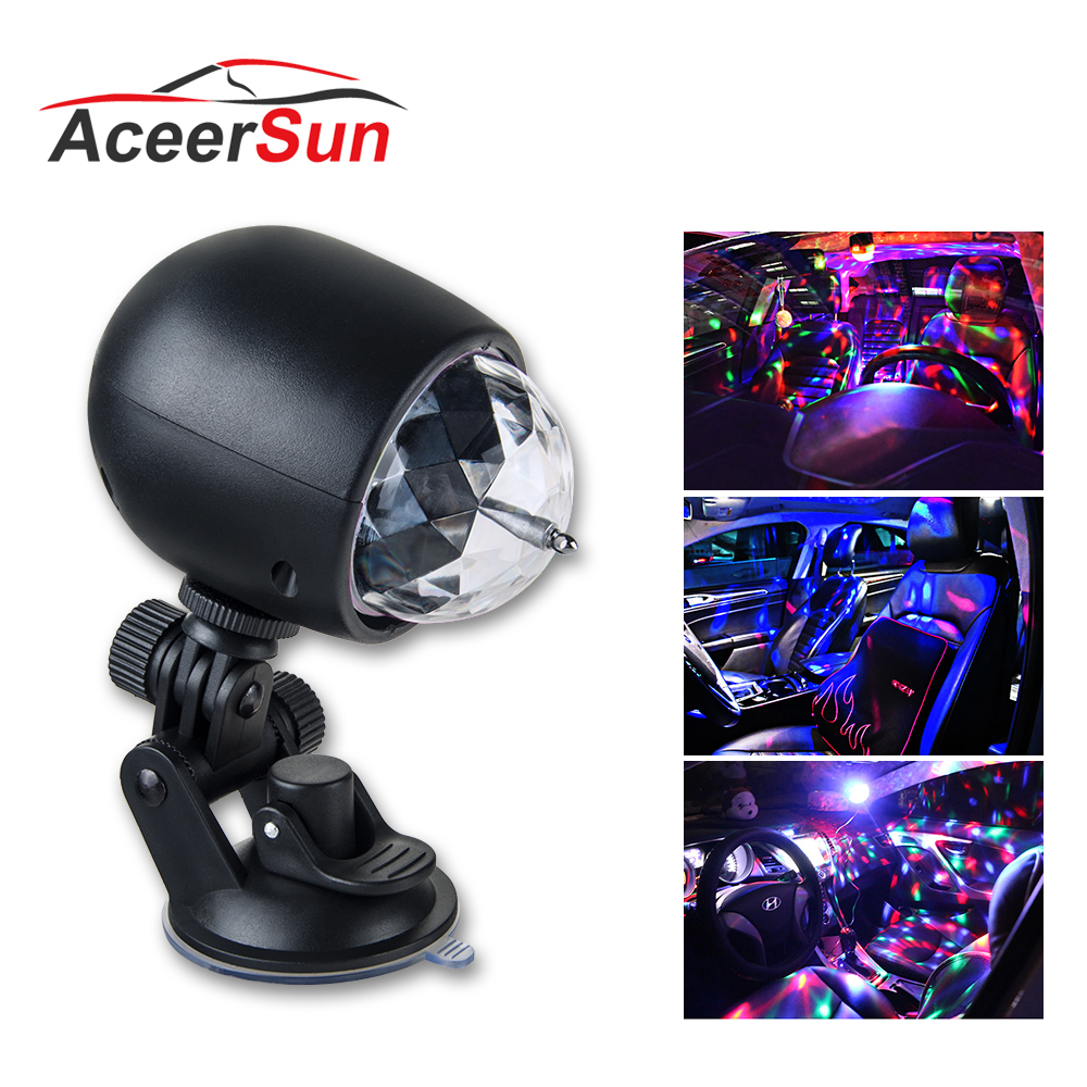 Aceersun LED USB RGB Ambient Light Automatic rotation auto backlight car ambient light CANBUS 5V Flirt