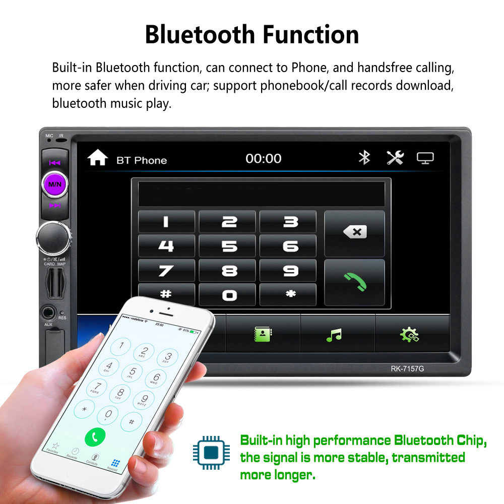 Vehemo 2 Din Touch Screen Premium Smart Car MP5 Navigation font b Music b font MP5