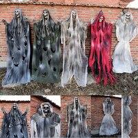 5.9 Feet 180cm Halloween Hanging Ghost Haunted Grim Reaper Horror Props House Home Door Bar Club Halloween Decorations