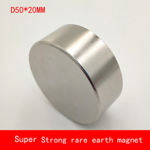 1PCS D50x20mm Strong Round N38 N52 Magnet permanent Rare Earth diameter 50*20MM plating Nickel