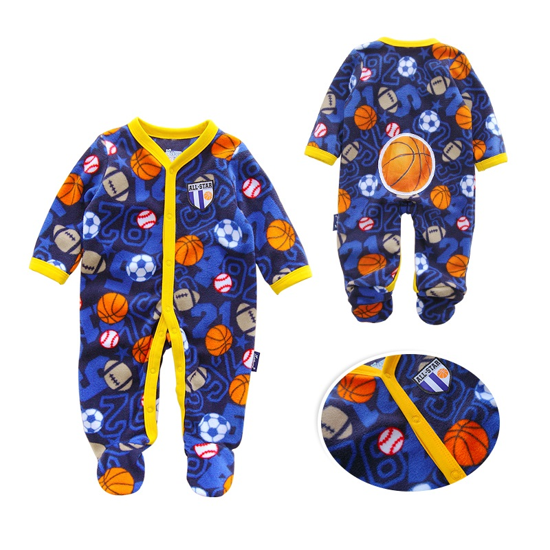 Near Cutest 2017 Newborn Baby Romper Long Sleeve Fleece Baby Boy Girl Clothes Casual Baby Clothing Infant Suit