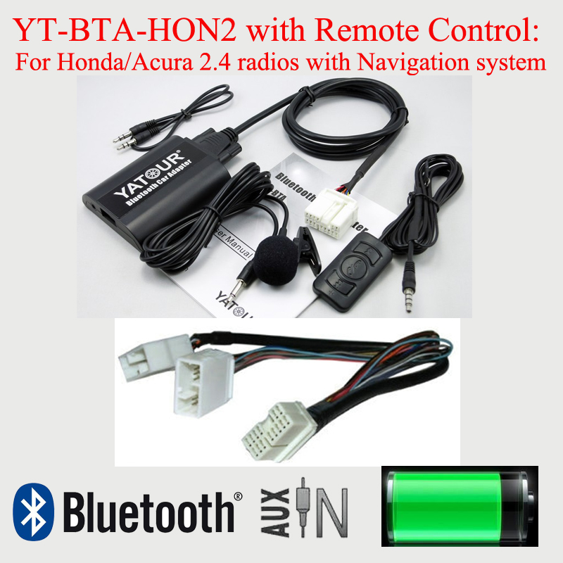 Yatour Bluetooth car MP3 hands free kit for Acura Honda Accord Civic CRV Odyssey Pilot Fit Jazz S2000 Legend City kingsun rear adjustable ball joint camber control suspension arm kit for 1990 1997 honda accord acura cl tl1996 1999 blue