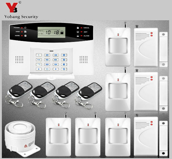 YobangSecurity 433MHz Metal Remote Control Home Security Wireless GSM Alarm System LCD Keyboard Voice Prompt Alarm Sensor набор стрел nerf мега 20 стрел