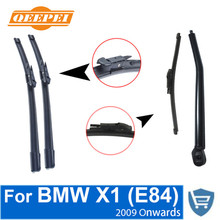 QEEPEI Front and Rear Wiper Blade Arm For BMW X1 E84 2009 Onwards 5 door SUV High quality Natural Rubber Windscreen
