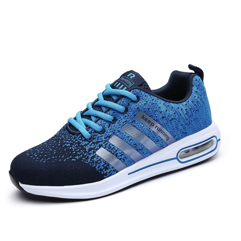 plus size 39-46 Sneakers Breathable running shoes air Fly Weave Mens sport Trainers Walking Zapatillas Hombre tennis gym shoes