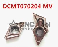 Frete grátis 10 PCS DCMT070204 MV pastilhas de metal duro CNC  torno CNC tool  aplicar para aço inoxidável e de processamento de aço  inserir SDJCR cnc lathe tool cnc inserts lathe tools -