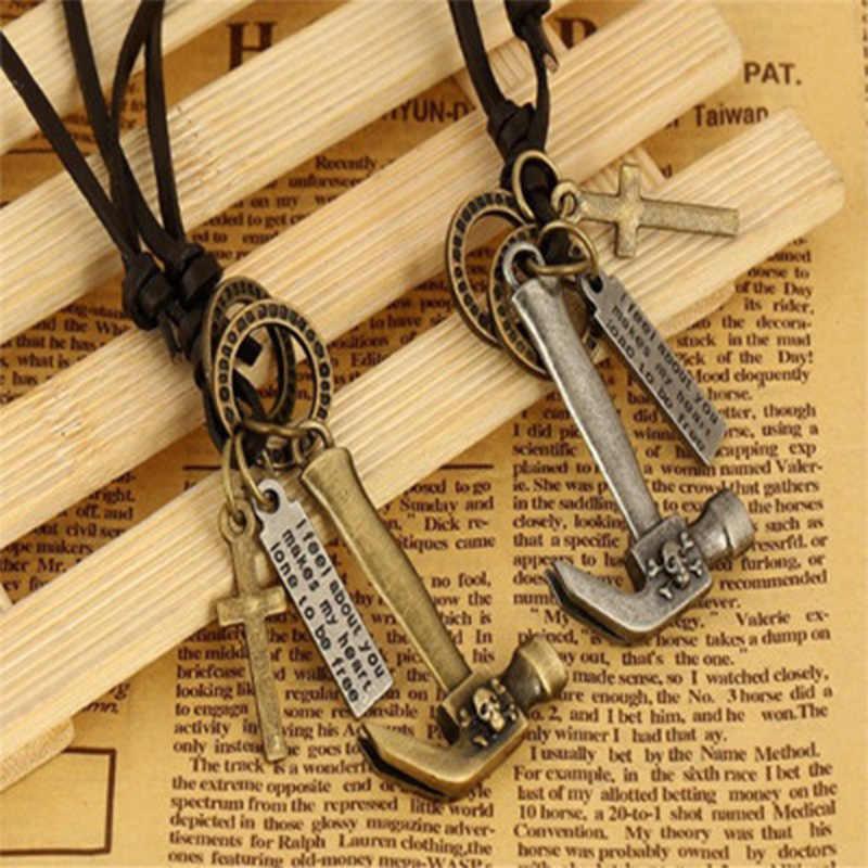 PUN necklaces & pendants chocker men's choker necklace mens chains male  accessories best friends pendant ewelry cross silver