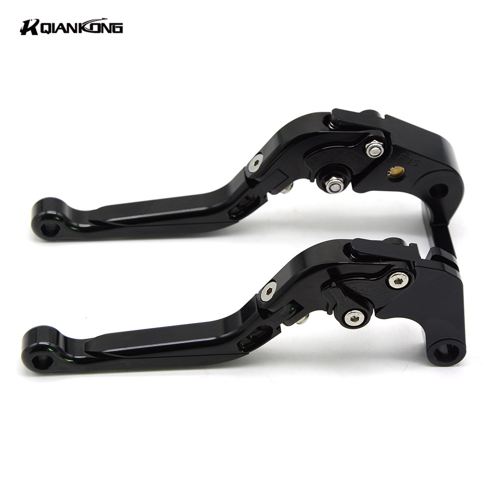 R QIANKONG CNC NEW Adjustable Extendable Brake Clutch Levers For Suzuki GSX650F 2008-2015 GSF650 BANDIT 2007 GSF Bandit 650 2005 for suzuki gsf 650 1200 1250 bandit gsx650f gsx1250f short long brake clutch levers motorcycle accessories adjustable
