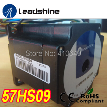 Free Shipping GENUINE Leadshine step motor 57HS09 rated current 2.8 A NEMA 23 with 0.9 Nm torque 8 lead wires 56 mm length genuine leadshine blm57050 nema 23 50w brushless dc servo motor with integrated 4 000 ppr incremental encoder