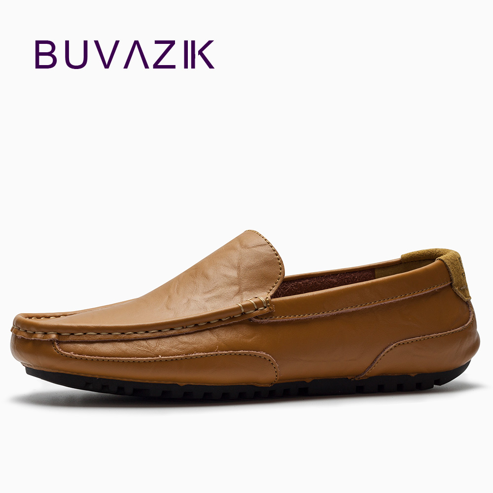 BUVAZIK Men comfortable casual loafers,soft leather leisure flats,slip-on lazy casual shoes men for 2018 spring free shipping bimuduiyu new england style men s carrefour flat casual shoes minimalist breathable soft leisure men lazy drivng walking loafer