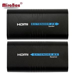 Image 2 - Prolongateur hdmi 120 m, plus Ethernet tcp/ip rj45, cat5 cat5e, séparateur HDMI, récepteur prolongateur hdmi pour DVD hd PS3