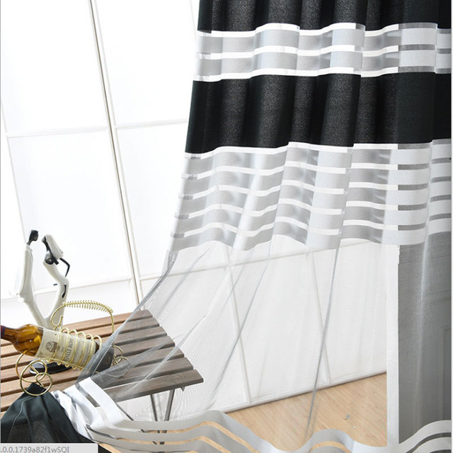 Thicken Black and white Curtain Screens For Living Room Balcony ...