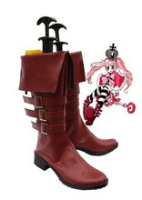 цены One Piece Anime Perona Cosplay Shoes Boots Custom Made Brown