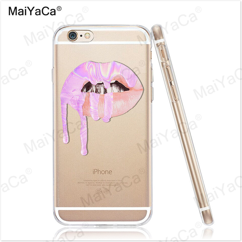 MaiYaCa phone cases Graffiti Girl Kylie Lips Soft Transparent TPU - Mobile Phone Accessories and Parts - Photo 3