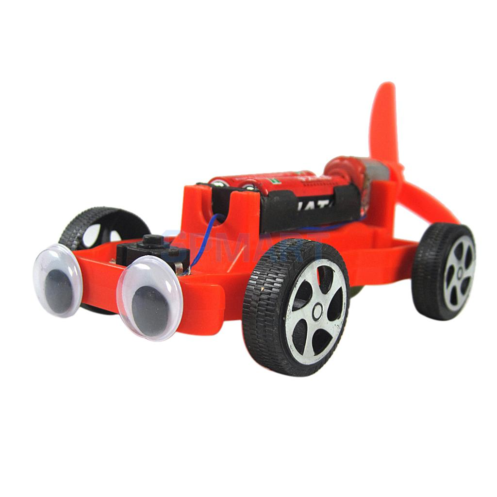 electric airscrew powered racing car diy assembly toy kit c0313 science kid educational learning experiment toy