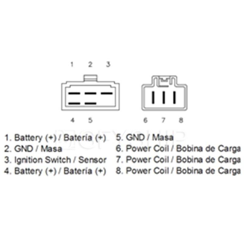 Motorcycle MOSFET Voltage Regulator Rectifier For Honda
