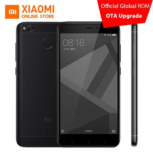 """Оригинальный Xiaomi Redmi 4x4 x мобильный телефон Snapdragon 435 Octa core Процессор 2 ГБ Оперативная память 16 ГБ Встроенная память 5.0 """"13MP Камера 4100 мАч MIUI 8.2"""