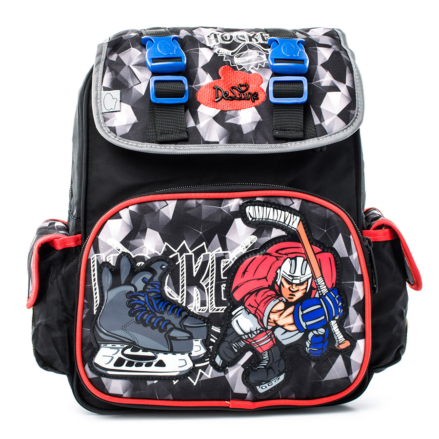 Delune Boys School Bag Orthopedic School Backpacks Waterproof Nylon Material for Boy with Shoes Bag delune