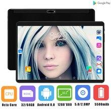 Новая ОС Android 8,0 10 дюймов tablet pc, четыре ядра, 4 Гб Оперативная память 64 Гб Встроенная память 8 ядер 1280*800 ips 2.5D Стекло Экран Планшеты 10,1 подарок