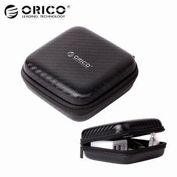 ORICO Headphone Case Bag Portable Earphone Earbuds Hard Box Storage for Memory Card USB Cable Organizer Mini Earphone Bag-Black