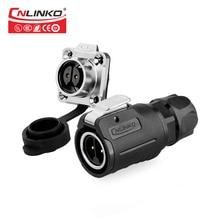 Профессиональный электронный адаптер CNLINKO IP67 для мужчин и женщин, 12 В, 10 А, постоянный ток, позолоченный 2 контактный сварочный кабель, водонепроницаемый разъем
