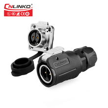 CNLINKO Professional Electronic IP67 Male Female Adapter 12v 10a dc power gold plated 2 pin welding cable connector waterproof