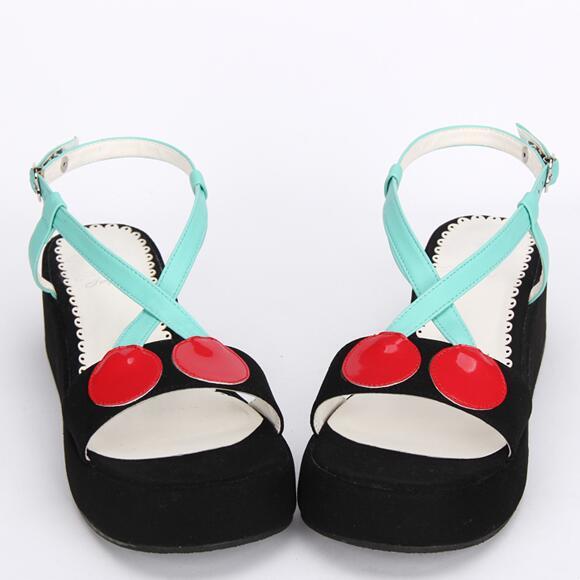 De 47 Chica Princesa 33 Vestido Tacones Cosplay Bombas Cuñas Sandalias Mori Verano Imprimir Lolita Señora Angelical 8816 Mujer Negro Mujeres Zapatos x1qtwFUf8n