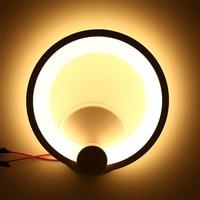 SXZM Modern Led Wall Lamp Fixture 12W 16W AC85 265V Aluminum Acrylic High Brightness Round Shape