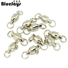 BlueJays 20pcs big Rally 15kg-230kg Ball Bearing Swivel Solid Rings Sea Ocean Word Shape Stainless Steel Fishing Hook Connectors