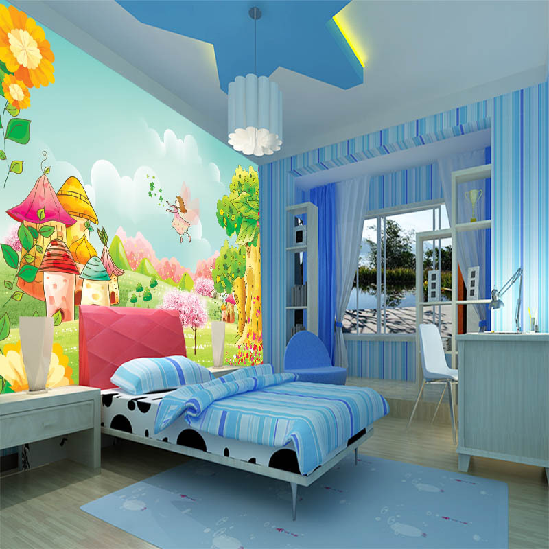 10 Cozy And Dreamy Bedroom With Galaxy Themes: Custom Large Scale 3D Mural Wallpaper Children's Room