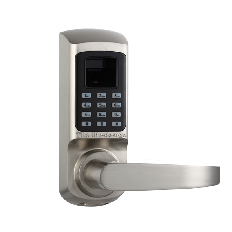 цена на Biometric Electronic Lock Door Lock Fingerprint, Code, Mechanical Key Digital Lock Single Latch Password Lock lk01BS