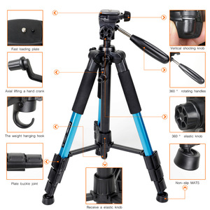 Image 2 - ZOMEI Q111 Professional Portable Travel Aluminum Camera Tripod&Pan Head for SLR DSLR Digital Camera Three color