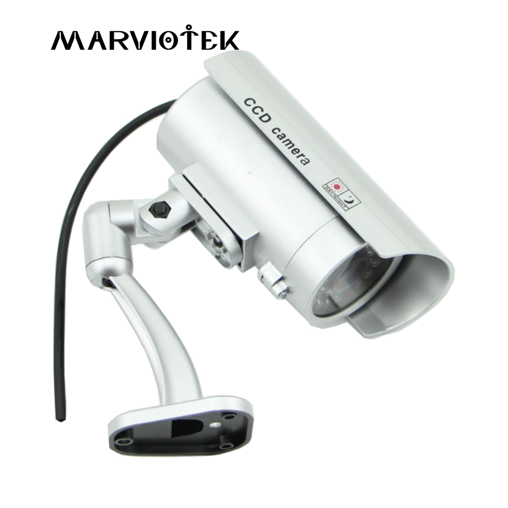 Dummy Camera Waterproof Outdoor CCTV Security Video Surveillance Dummy Cameras Bullet Camera With LED Light Fake Camera ...
