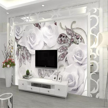 Custom 3D mural modern minimalist jewelry flower 3D TV background wall decoration painting wallpaper mural photo wallpaper free shipping modern minimalist 3d container rust mural lounge restaurant cafe bar theme wallpaper mural