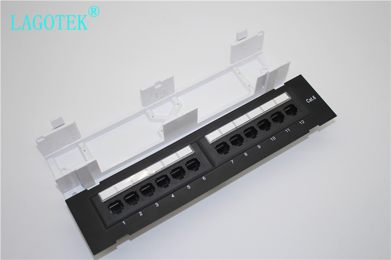 Network 12 Port CAT6 Patch Panel RJ45 Networking Wall Mount Rack Mount Bracket WALL MOUNTING