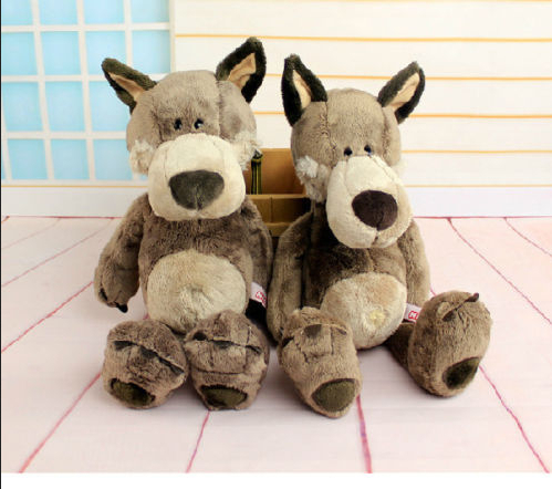 Plush Toy Stuffed Doll Nice Cute Forest Animal Wolf Valentine Birthday Gift 1pc