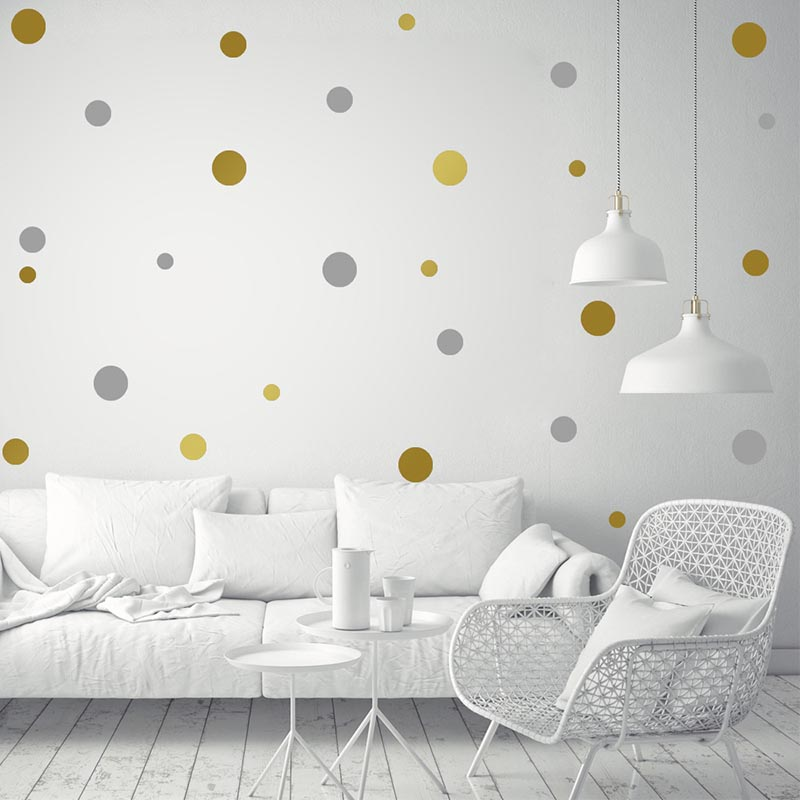 1sheet Mix Size Polka Dots Circles Removable Vinyl Wall Stickers Baby Kids Children Bedroom Wallpaper Home Decor Wall Art Decal