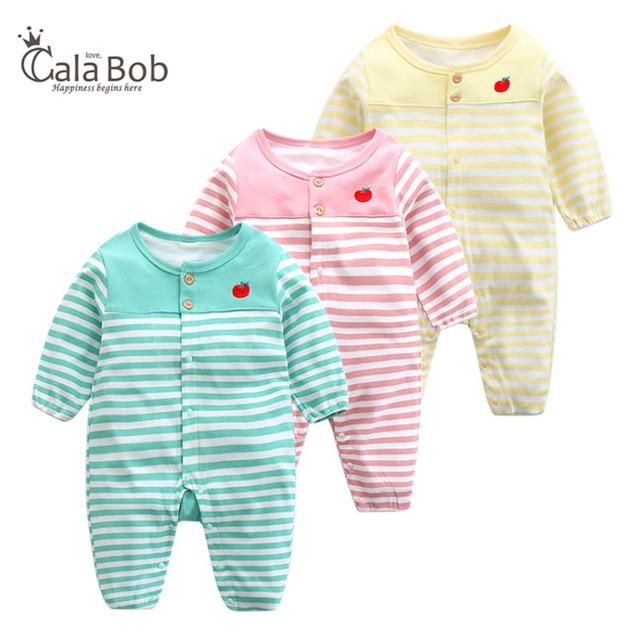617d6927c CalaBob New Fashion Cotton Baby Romper Striped Long Sleeve Baby Boy ...