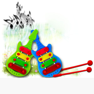 KidsToy Boys Girsl Baby Child Plastic Toy 4-Note Xylophone Musical Toys Wisdom Development talent for music Toys(China)