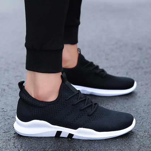 2018 Knit Running Shoes Men Free Outdoor Sport Shoes For Man White Athletic Laces Light Running Shoes For Male Fintness