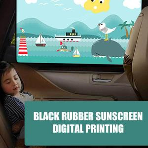 Image 4 - 2pcs Magnetic Car Sunshade Car Sunscreen Insulation Magnet Sun Shade Retractable Curtains Rear Row Cartoon Window Shade