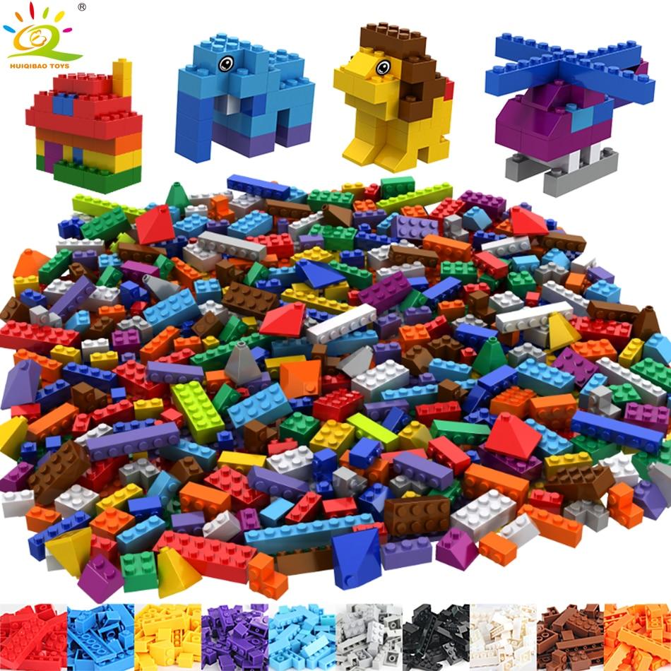 550Pcs Colorful DIY Creative Building Blocks Compatible legoed Classic city figures bricks animal Educational Toy for children
